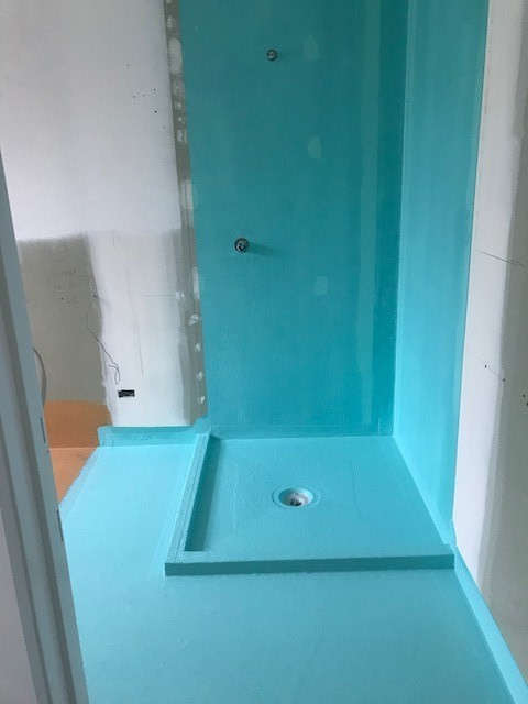 Shower Waterproofed by Wet-seal over Tilers Waterproofing